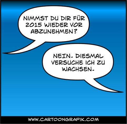 Neujahrsvorsatz-2015-Abnehmen-Cartoongrafik.com
